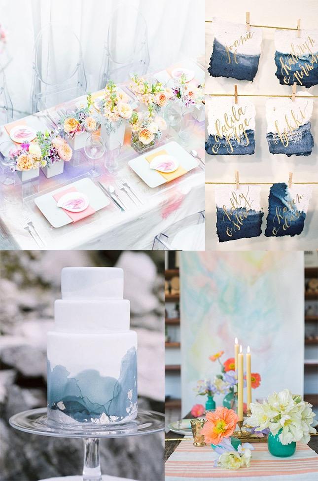Foto ©Style Unveiled, Christine Donee / Grey Likes Weddings, Maria Lamb / Pure Wow, Alexis June Weddings / Ruffled Blog